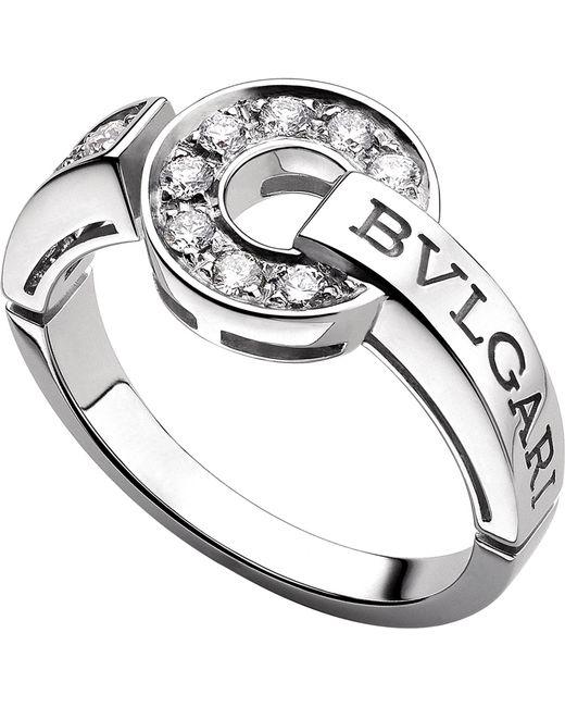 BVLGARI | Metallic - 18kt White-gold And Diamond Ring | Lyst
