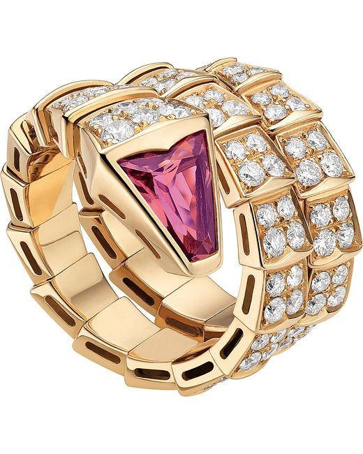 BVLGARI   Serpenti Double-coil 18kt Pink-gold   Lyst
