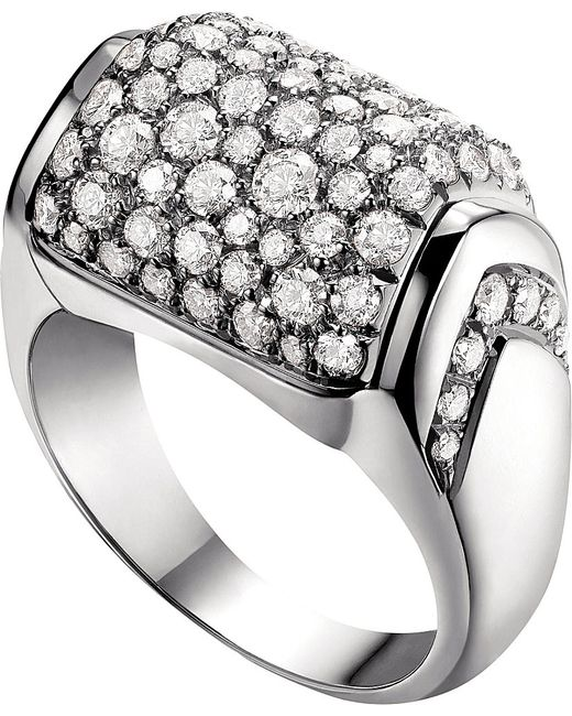 BVLGARI | Metallic Mvsa 18kt White-gold Ring | Lyst