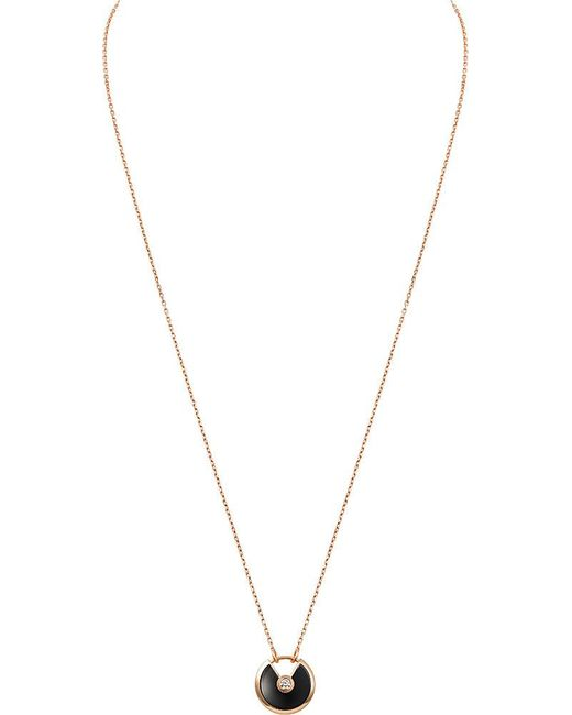 Cartier | Amulette De Pink Gold Necklace | Lyst