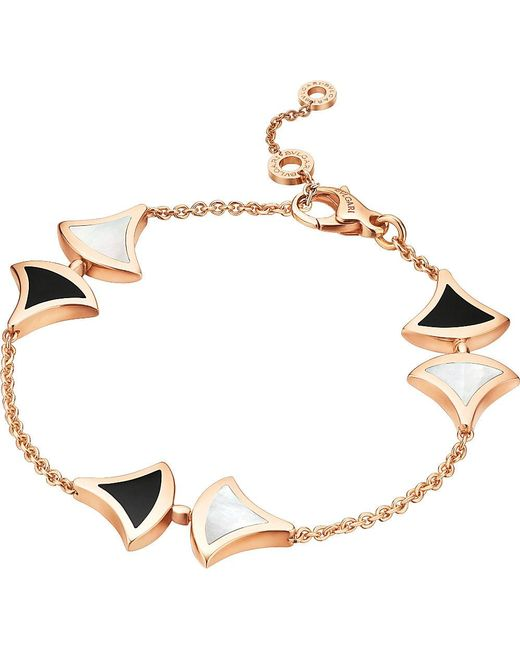 BVLGARI | Black Divas' Dream 18kt Pink-gold And Onyx Bracelet | Lyst