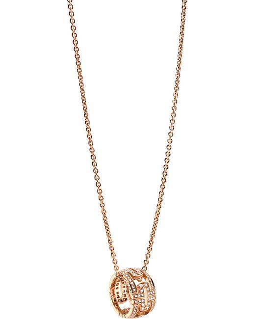 BVLGARI | B.zero1 18ct Pink-gold Pendant Necklace | Lyst