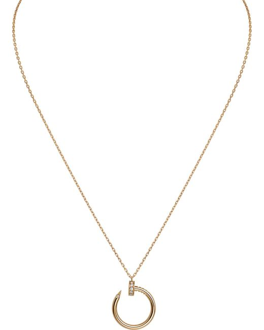 Cartier | Juste Un Clou 18ct Yellow-gold And Diamond Necklace | Lyst