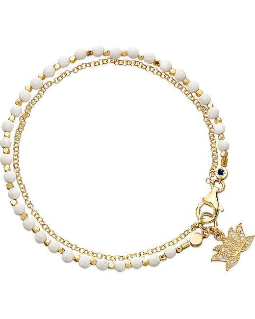 Astley Clarke | Metallic Lotus White Agate Friendship Bracelet | Lyst