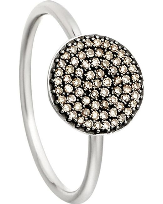 Astley Clarke | Metallic Small Icon 14ct White Gold Diamond Ring | Lyst