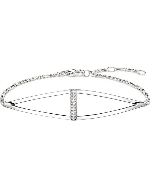 Thomas Sabo   Metallic Triangle Sterling Silver And Diamond Bracelet   Lyst