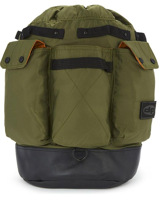 Daniel poole Ma-1 Leather And Nylon Backpack in Green for ...