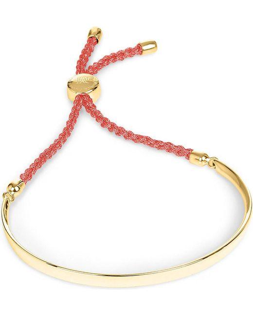 Monica Vinader | Red Fiji 18ct Gold-plated Friendship Bracelet | Lyst