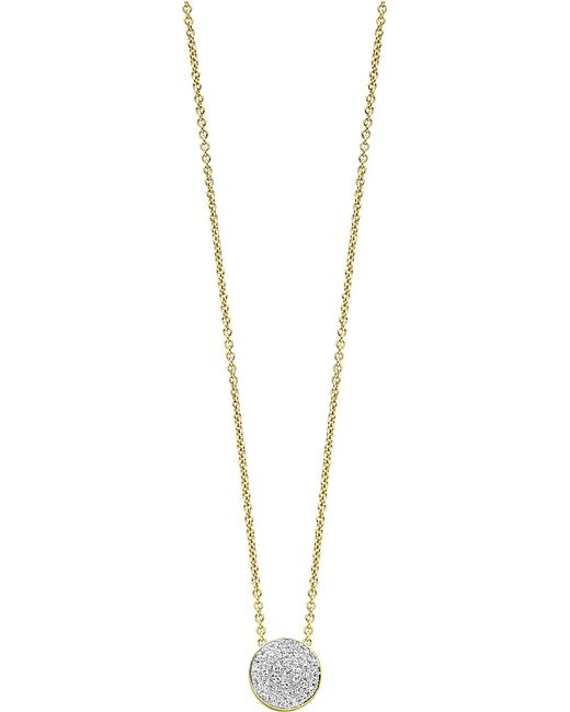 Monica Vinader | Metallic Ava 18ct Yellow Gold-plated Vermeil And Diamond Button Necklace | Lyst