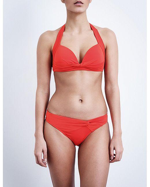 Jets by Jessika Allen   Red Twist-front Halterneck Bikini Top   Lyst
