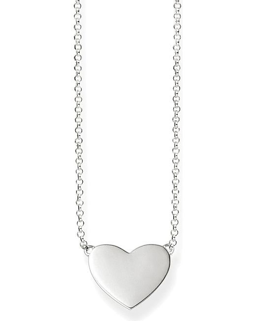 Thomas Sabo | Metallic Sterling Silver Heart Necklace | Lyst