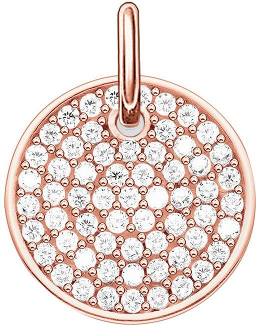 Thomas Sabo | Metallic Love Bridge 18ct Rose Gold Plated Sterling Silver Pendant | Lyst