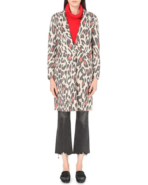 Sandro Plus Size Sailor Wool-blend Coat in Natural