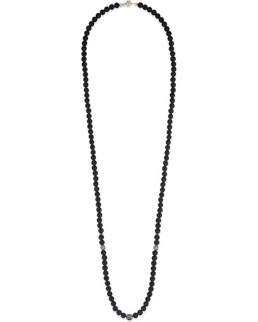 Nialaya | Black Matte Onyx Beaded Necklace | Lyst
