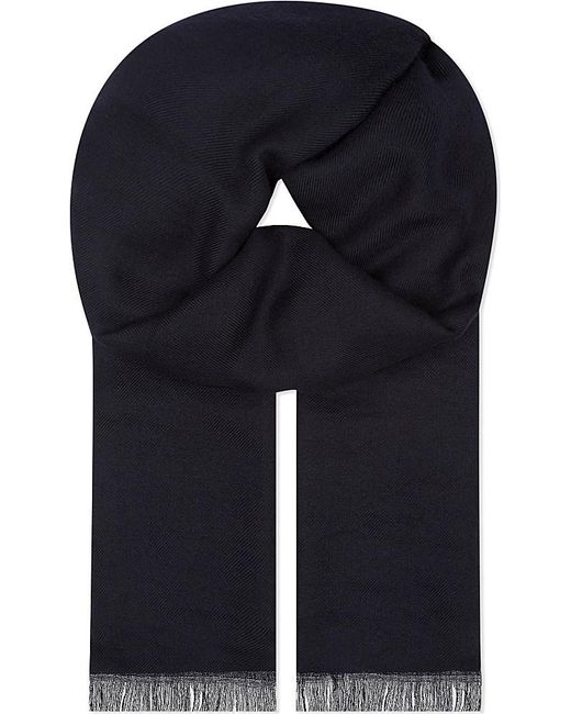 Brunello Cucinelli | Blue Cashmere Scarf for Men | Lyst
