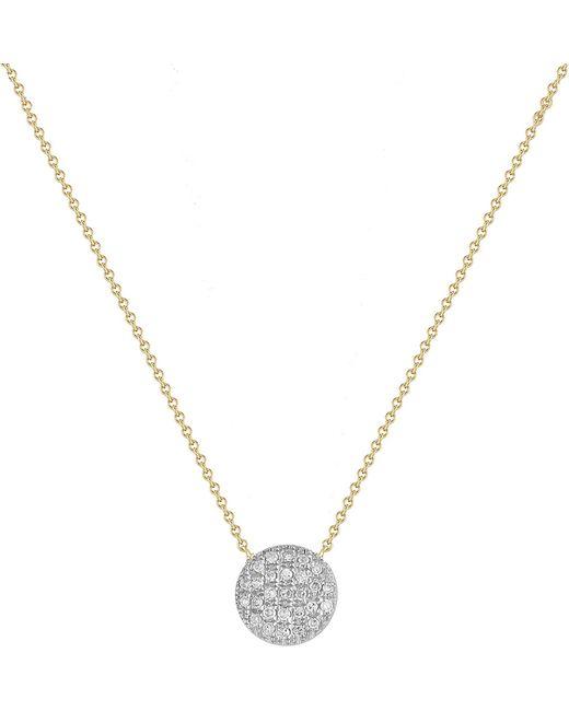 The Alkemistry | Metallic Diamond Disc 14ct Gold Necklace | Lyst