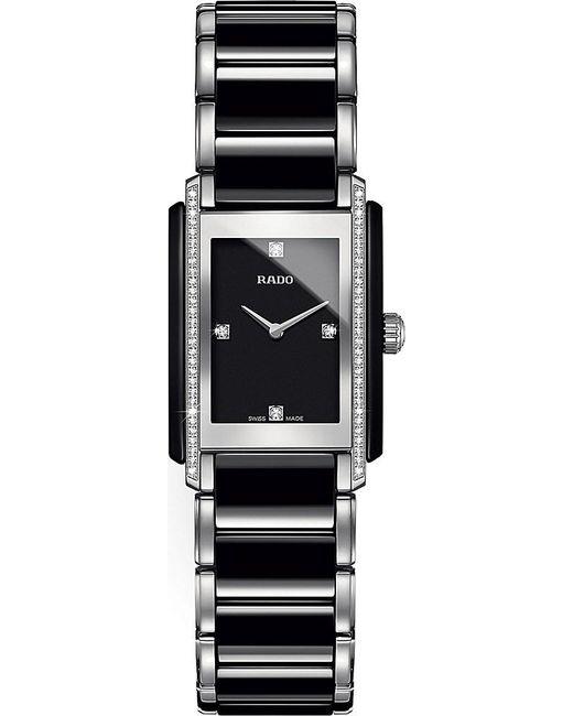 Rado | Black R20217712 Integral Ceramic And Diamond Watch | Lyst