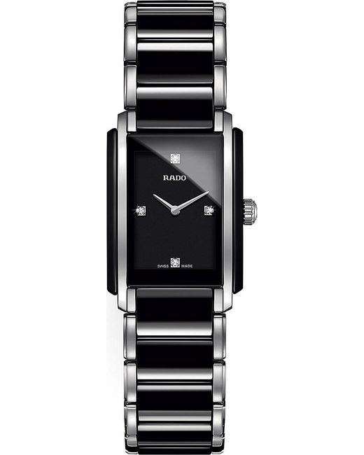 Rado | Black R20613712 Integral Stainless Steel And Ceramic Watch | Lyst