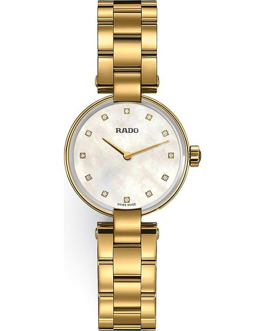 Rado | Metallic R22857923 Coupole Gold Watch | Lyst