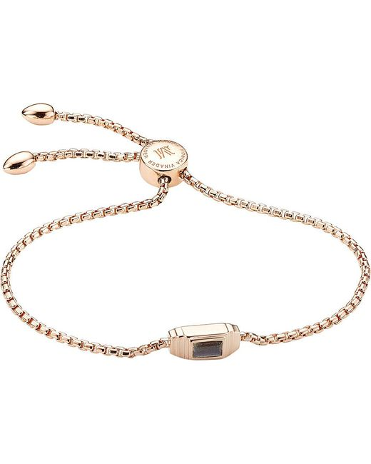 Monica Vinader | Metallic Baja Deco 18ct Rose Gold And Labradorite Bracelet | Lyst