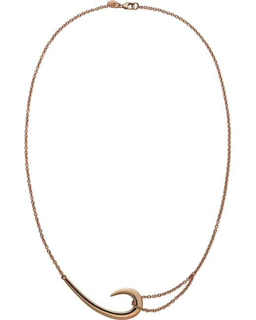 Shaun Leane | Metallic Sterling Silver And Rose Gold Vermeil Hook Necklace | Lyst