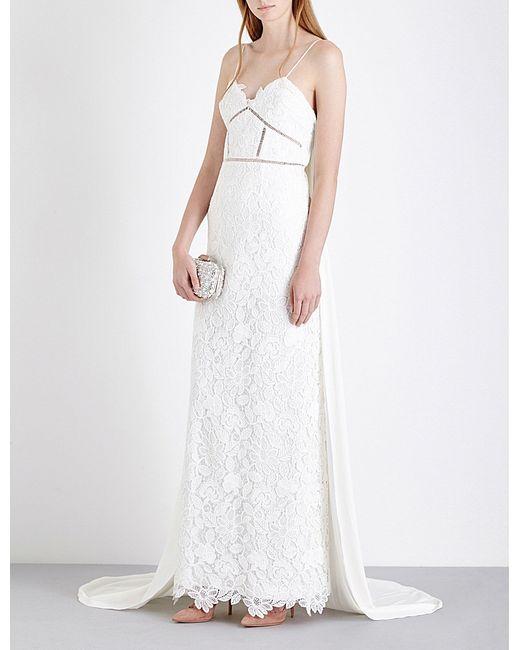 Self portrait angelica guipure lace wedding dress in white for Self portrait wedding dress