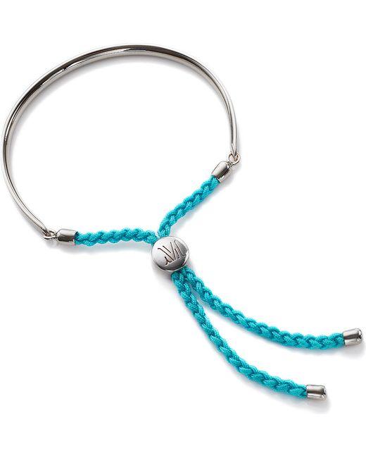 Monica Vinader | Blue Fiji Sterling Silver Friendship Bracelet | Lyst
