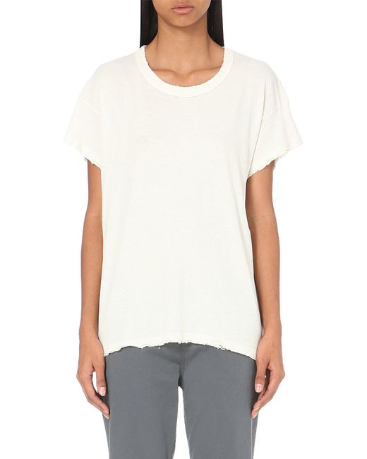 The Great | White The Palm Cotton-jersey T-shirt | Lyst