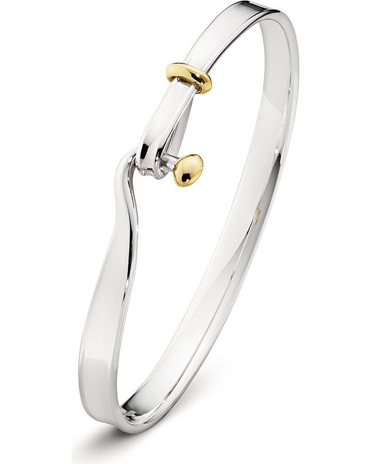 Georg Jensen | Metallic Torun Sterling Silver And 18kt Yellow Gold Bangle | Lyst