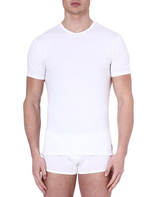 Calvin Klein   White Two Pack Crew-neck T-shirts for Men   Lyst