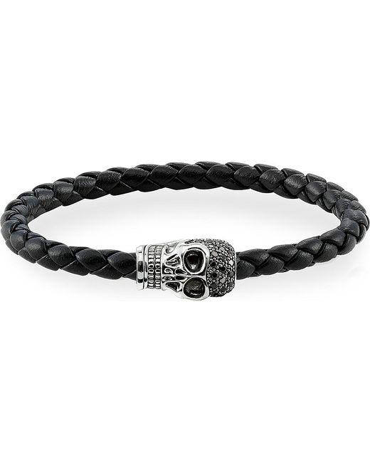 Thomas Sabo   Black Zirconia Skull Unity Bracelet   Lyst