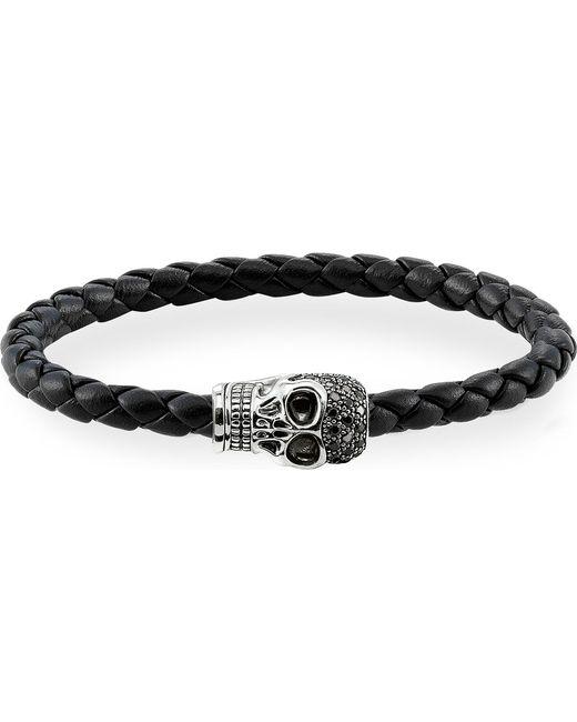 Thomas Sabo | Black Zirconia Skull Unity Bracelet | Lyst