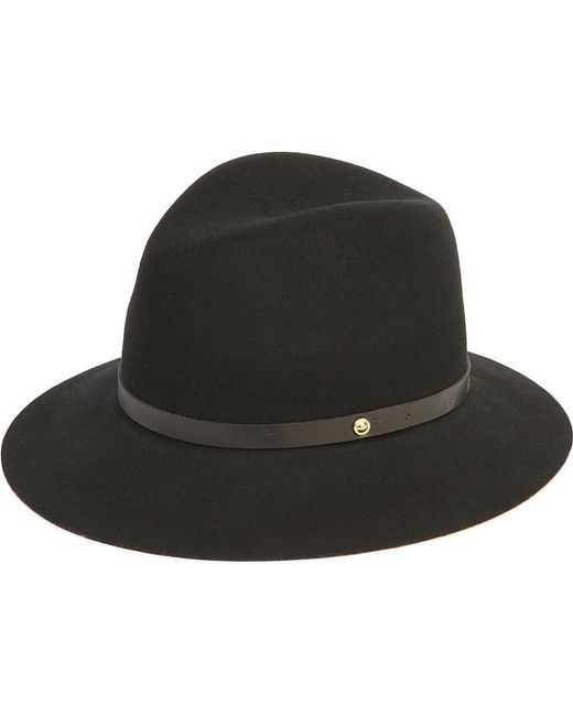 Rag & Bone | Black Trimmed Wool Fedora | Lyst