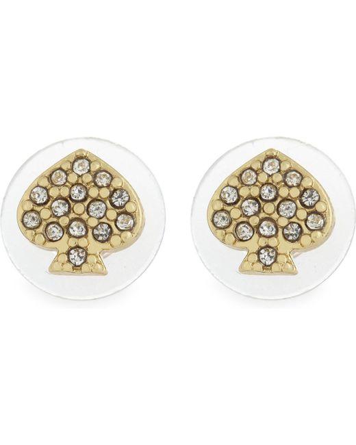Kate Spade | Metallic Crystal Stud Earrings | Lyst