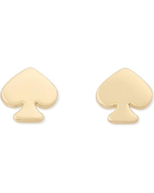 Kate Spade   Metallic Spade Mini Stud Earrings   Lyst