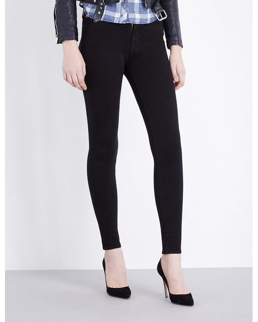 Hudson | Black Nico Super-skinny Mid-rise Jeans | Lyst