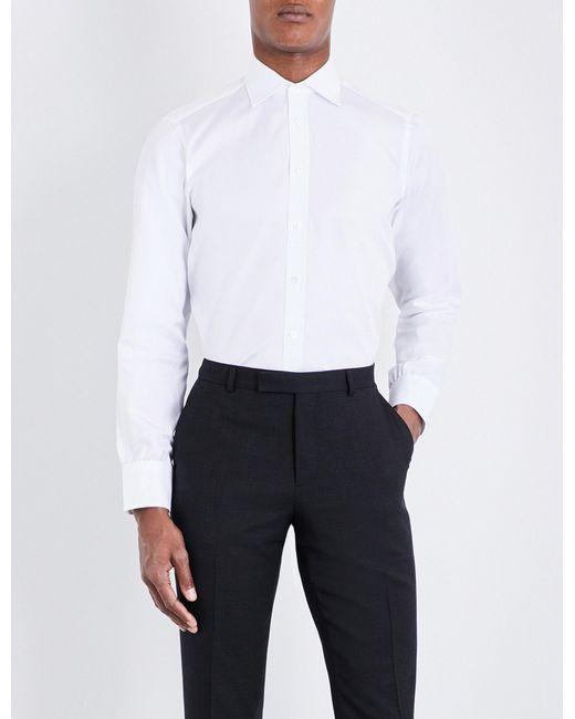 Turnbull & Asser | White Basketweave Slim-fit Cotton Shirt for Men | Lyst