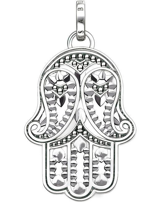Thomas Sabo - Metallic Hand Of Fatima Sterling Silver And Zirconia Pendant - Lyst