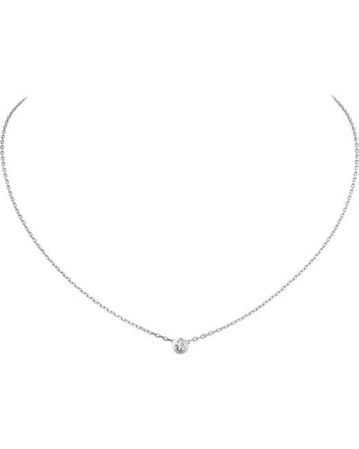Cartier - Diamants Légers De 18ct White-gold And Diamond Necklace - Lyst