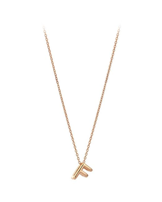 The Alkemistry | Metallic Kismet By Milka 14ct Rose-gold Initial F Necklace | Lyst