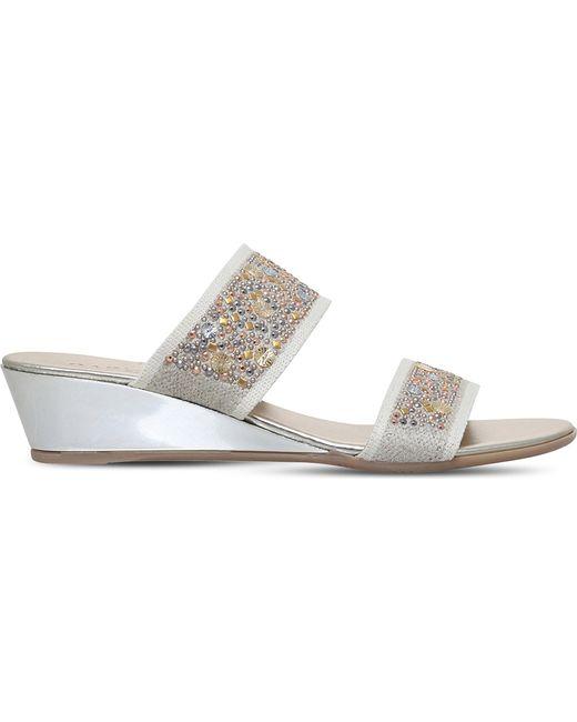 Carvela Kurt Geiger - Gray Stella Studded Wedge Sandals - Lyst