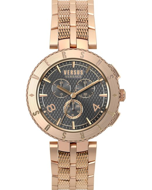 Versus  - Metallic S76180017 Logo Chrono Rose-gold Watch - Lyst
