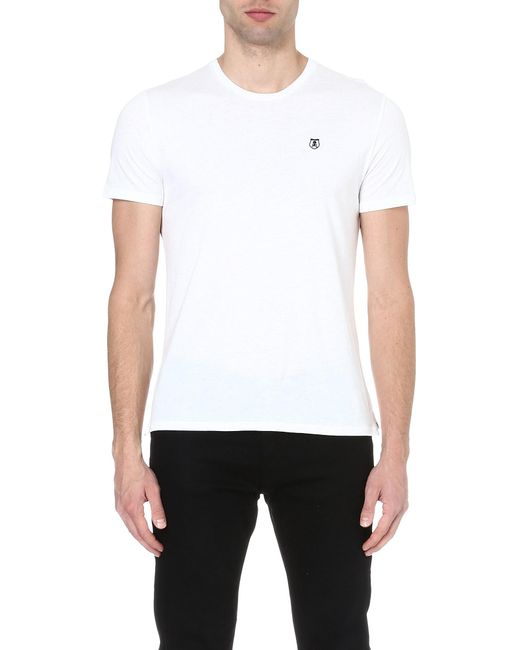 The Kooples Sport | White Round-neck T-shirt for Men | Lyst