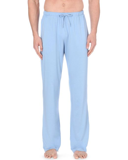 Derek Rose - Blue Basel Casual Trousers for Men - Lyst