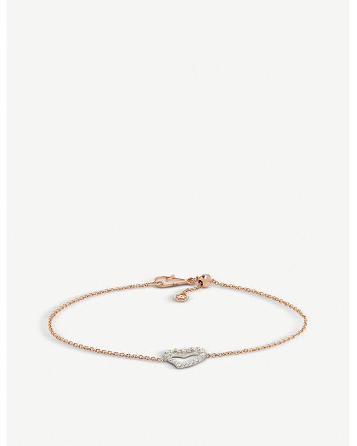 Annoushka - Metallic Heart Love Diamonds 18ct Bi-gold And Diamond Bracelet - Lyst