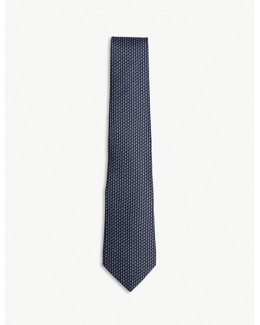Lanvin - Blue Chevron Silk Tie for Men - Lyst