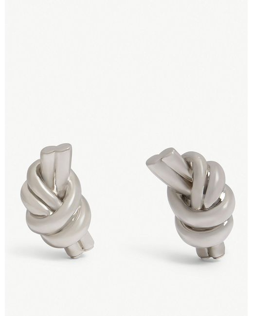 J.W. Anderson - Metallic Knot Eco Brass Earrings - Lyst