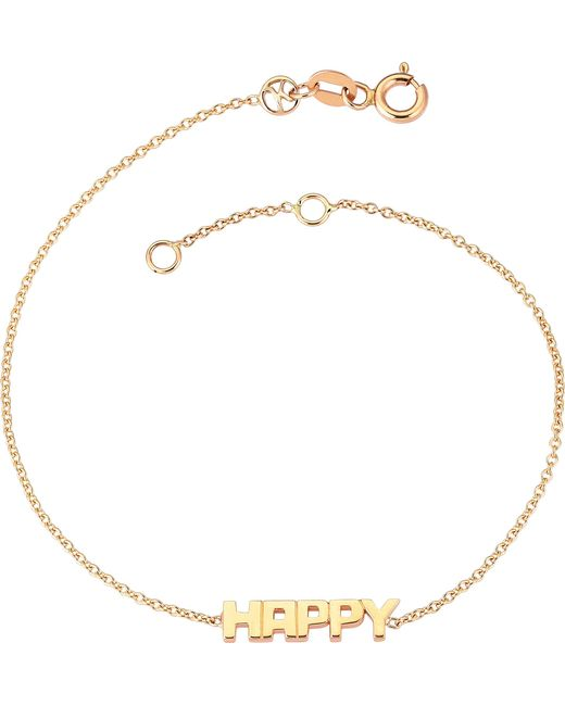 The Alkemistry | Metallic Happy 14ct Rose Gold Bracelet | Lyst