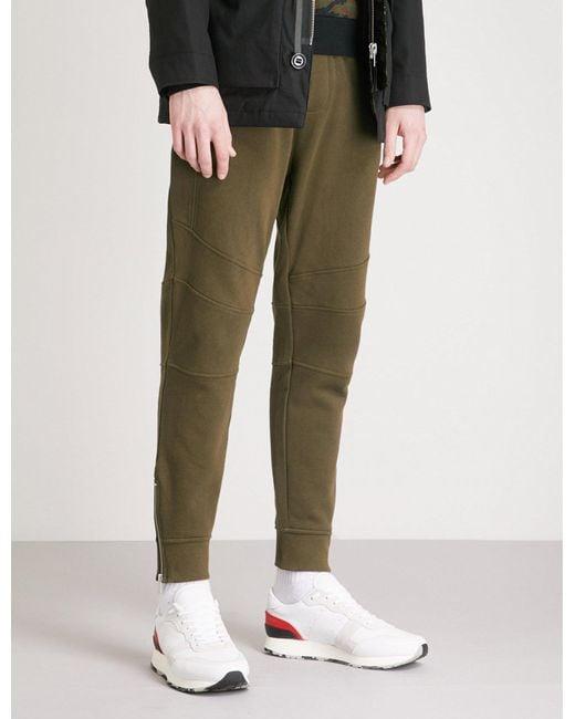 The Kooples - Green Biker-detail Cotton-jersey Jogging Bottoms for Men - Lyst