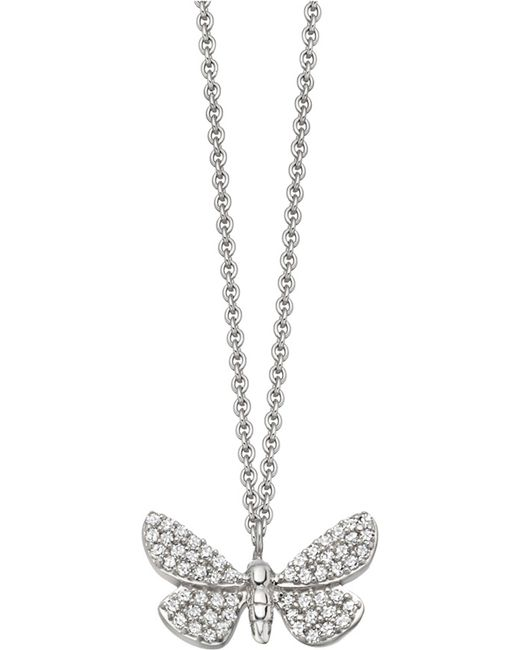 Astley Clarke | Cinnabar Papillon 14ct White-gold And Diamond Necklace | Lyst